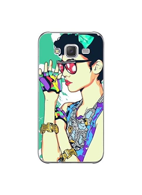 People's Cover Samsung J5 Kabartmalı Telefon Kılıfı Renkli
